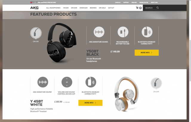 AKG homepage layout 2 featured products 8istudio