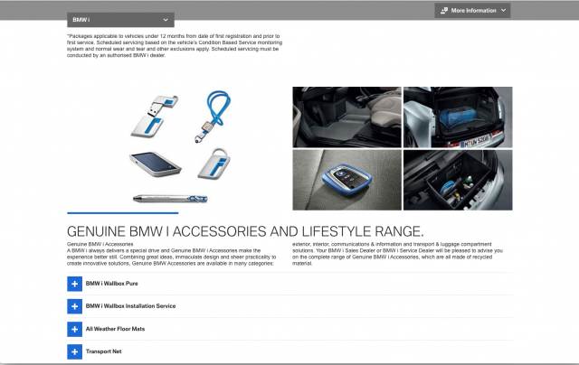 BMW desktop BMW i Accessories layout 8istudio