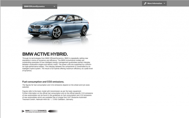 BMW desktop Efficient Dynamics layout 2 8istudio