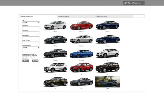 BMW desktop Order brochure layout 8istudio