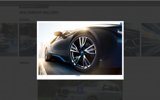 BMW desktop popup layout 8istudio