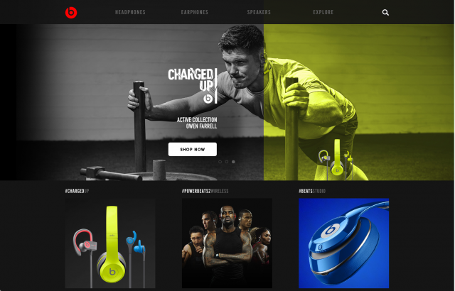 Beats By Dre Homepage layout 8istudio