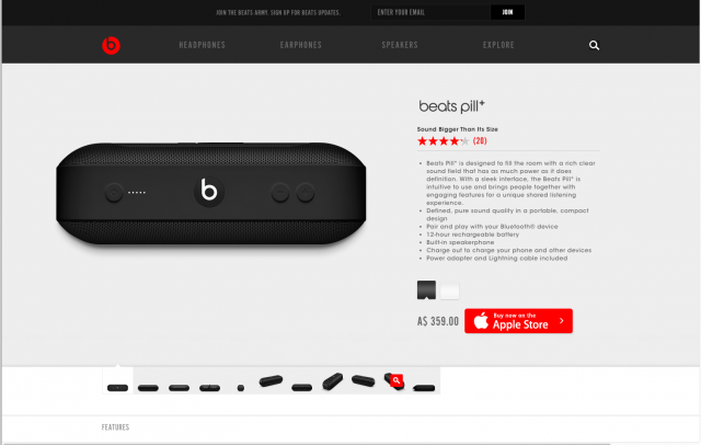 Beats By Dre product page 4 8istudio