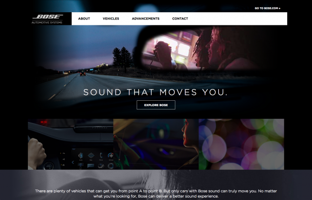 Bose homepage layout 2 8istudio