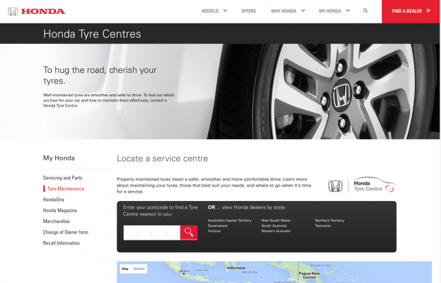 Honda desktop tyre maintenance layout 8istudio
