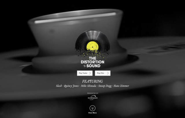 Infinity Distortion of Sound landing page 8istudio