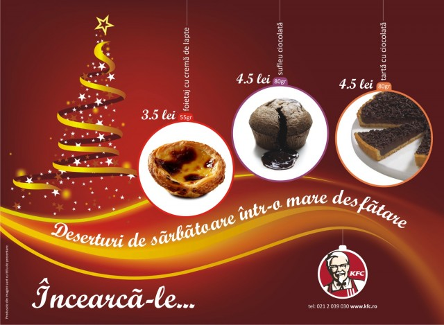 KFC holiday treats poster 8istudio