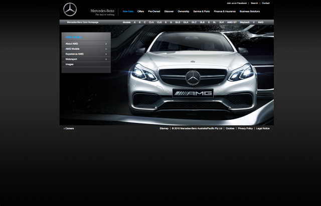 Mercedes benz AMG page layout 8istudio