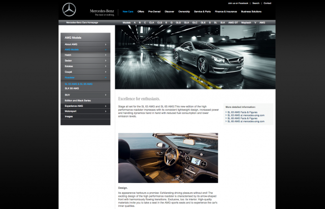 Mercedes benz AMG product description 2 layout 8istudio