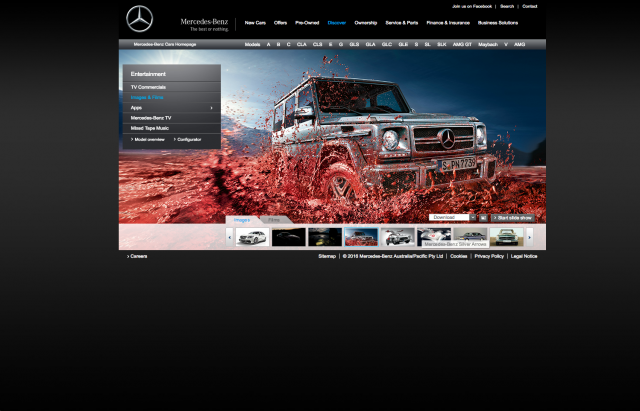Mercedes benz Images and Films 2 layout 8istudio
