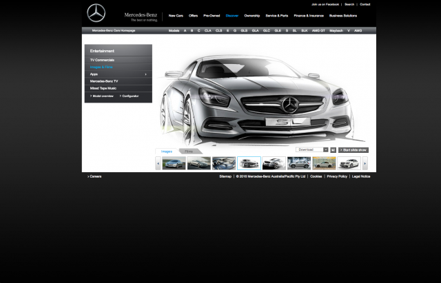 Mercedes benz Images and Films layout 8istudio