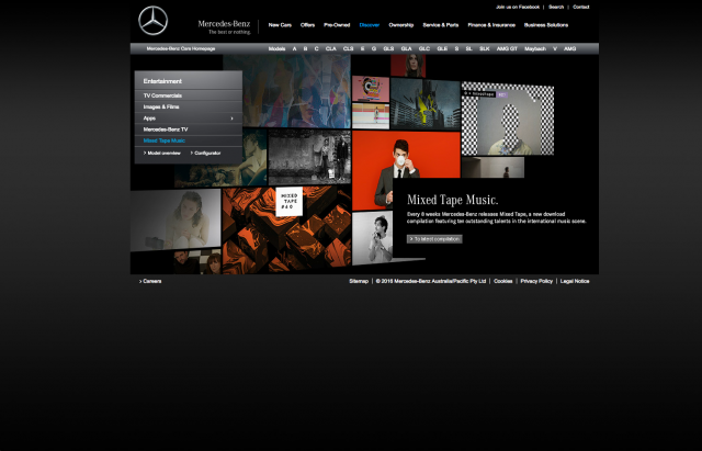 Mercedes benz Mixed Tape music layout 8istudio