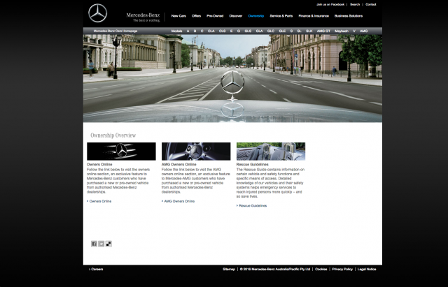 Mercedes benz Ownership page layout 8istudio