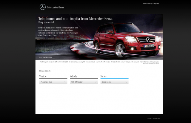 Mercedes benz Telephones multimedia 2 layout 8istudio