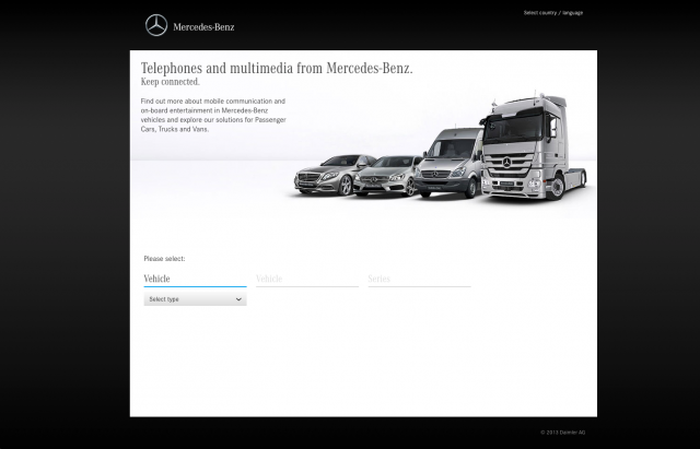 Mercedes benz telephones layout 8istudio