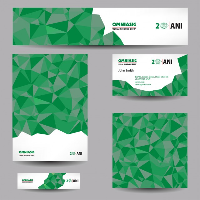 OmniAsig 20years celebration stationery