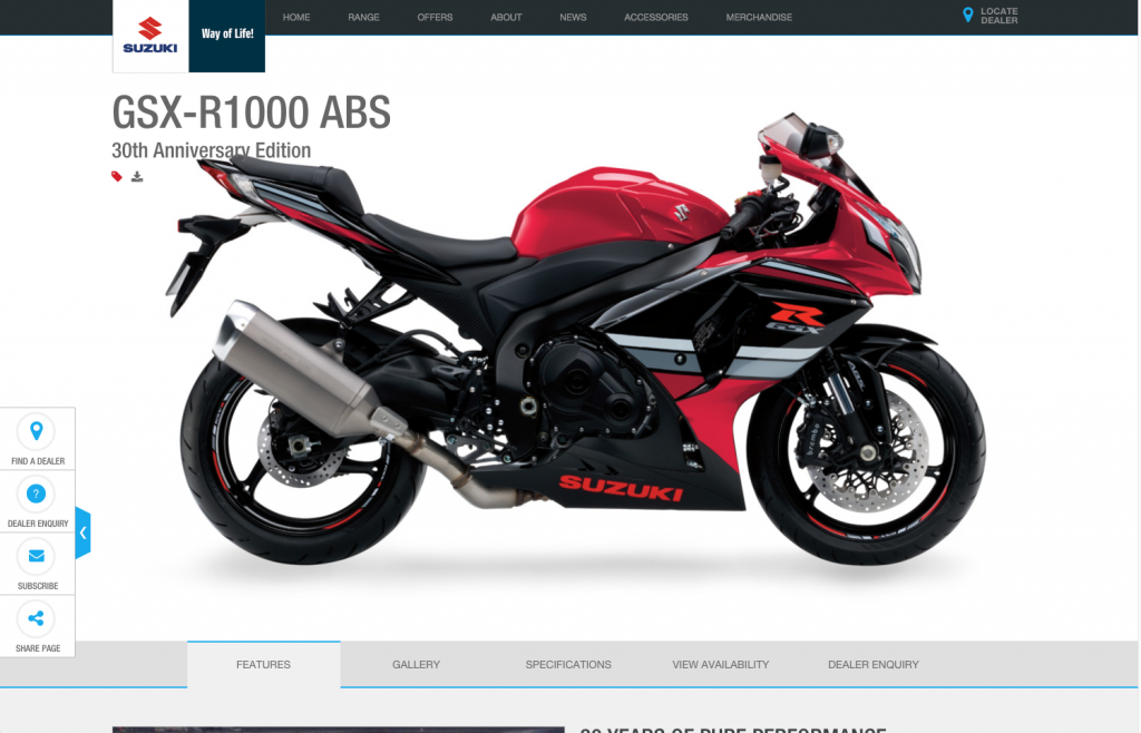 Suzuki supersport range layout 8istudio