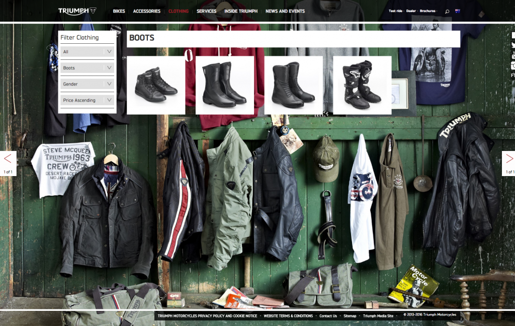 Triumph Motorcycles clothes desktop 8istudio