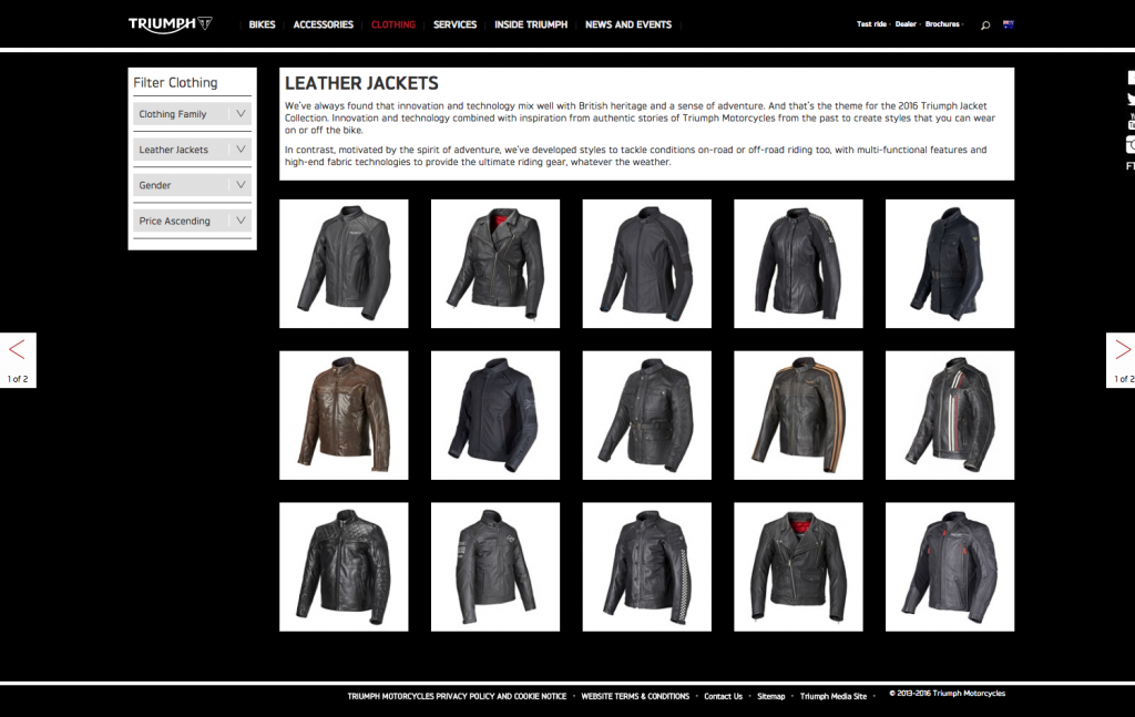 Triumph Motorcycles clothing desktop 8istudio