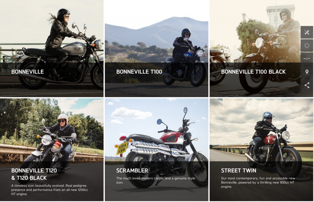 Triumph Motorcycles featured models desktop 8istudio