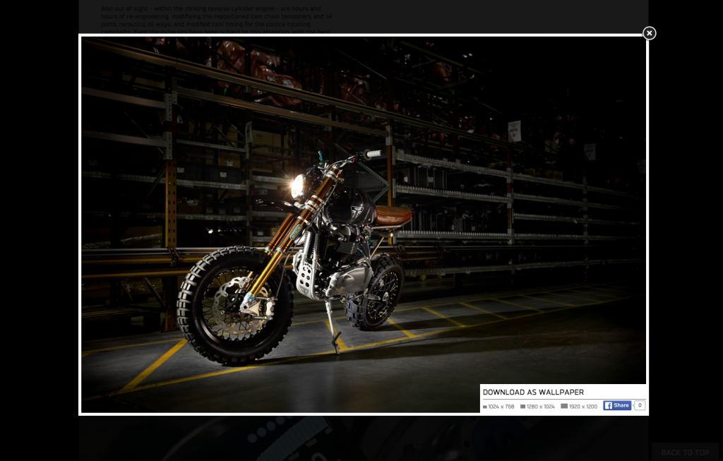 Triumph Motorcycles popup wallpaper desktop 8istudio